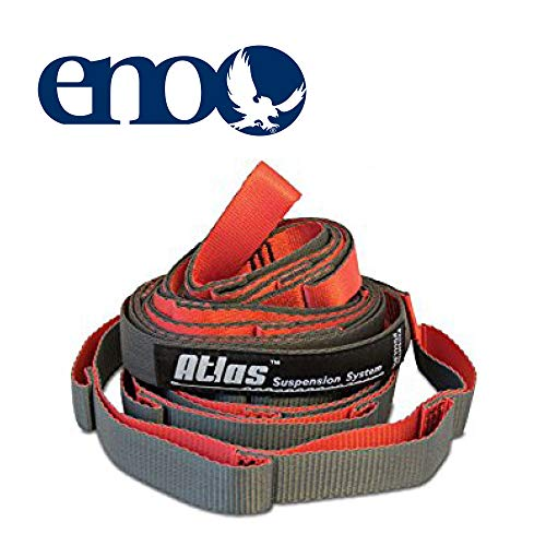 ENO, Eagles Nest Outfitters Atlas Chroma Hammock Straps, Suspension System, Red/Charcoal