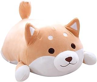Putuio Schattig Fat Shiba Inu pluche speelgoed, gevuld, zacht Kawaii-dier, cartoon-kussen, 37 cm (bruin)