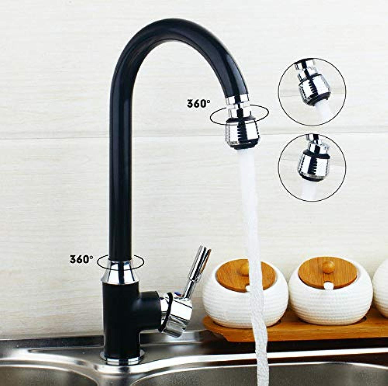 Gedrehte Schwarze Malerei Messing Becken Mischbatterie Moderne Fertig Drehbare Küchenarmatur Deck Montiert Hot & Cold Mischbatterie