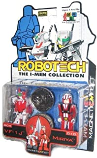 Robotech I-Men VF-1J & Miriya Kubrick Figure Set 06100