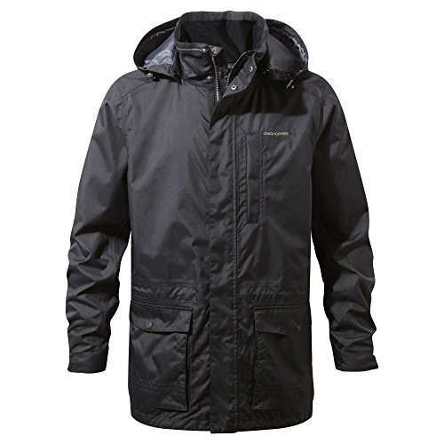 Craghoppers Kiwi Long Interactive Chaqueta, Hombre, Negro, Medium