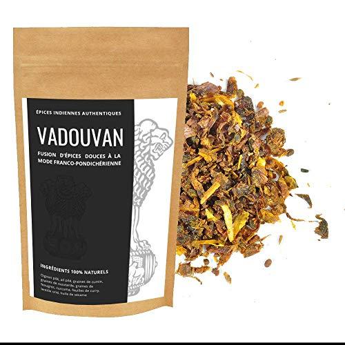 Authentic Vadouvan - Authentische Currygewürze aus Pondicherry - 100% natürliche Zutaten aus Indien - Gewürzmischung 500g
