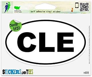 Cleveland CLE White City Oval Vinyl Car Bumper Window Sticker 3