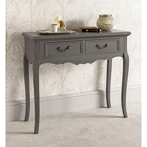 homesdirect365 Etienne 2 Drawer Antique French Style Console Table