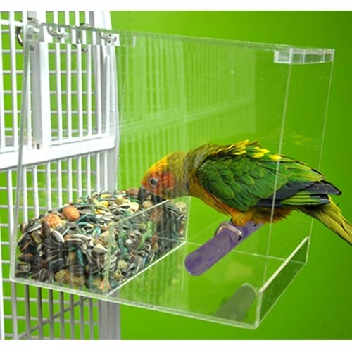 Large Tweeky Clean Seed Bird Feeder Parrot Toy Toys African Grey Amazon Tidy No Mess