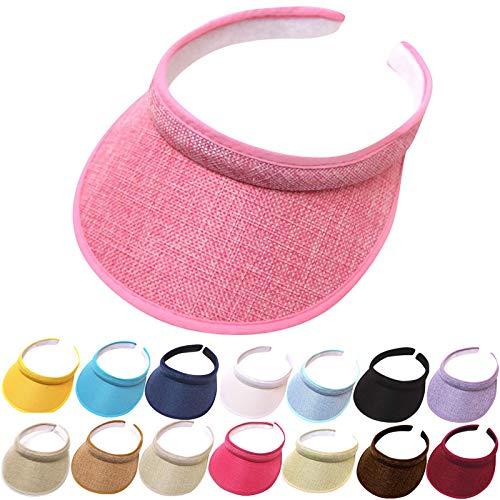 Summer Wide Brim Sun Hats Womens Visors Hats Sun UV Protection SPF 50+ Outdoor Traveling Beach Fishing Caps Black