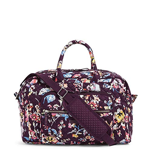 Vera Bradley Women's Iconic Signature Cotton Compact Weekender Travel Bag, Indiana Rose, One Size