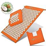 Esterilla de acupresión Wellax con almohada - alivia específicamente la tensión y promueve la circulación - la esterilla de masaje en el juego incl. almohada de acupresión y bolsa de transporte