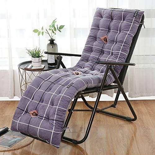 TCZ1557 Sofa Relaxer Chaise Lounge Pad Lendenwirbelmatte, Breathable Chair Lounge Lehnstuhl Rocking Garten Innenhof Sitzkissen Mat Cushion,E,48x120cm(19x47in)