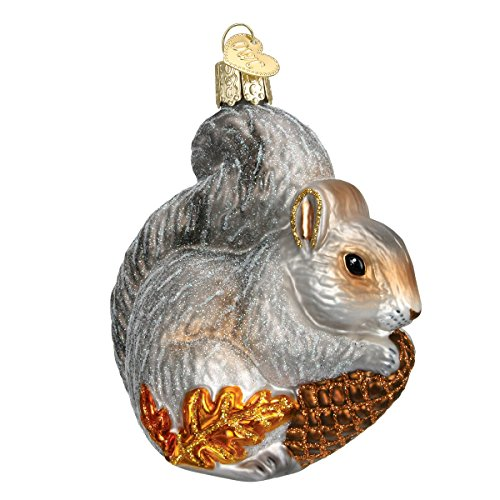 Old World Christmas Wildlife Animals Glass Blown Ornaments for Christmas Tree Hungry Squirrel