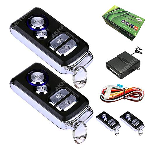 Akhan 100F09 - Funkfernbedienung für vorhandene original Zentralverriegelung, mit 2 Handsender geeignet für pneumatische, elektrische u. nachträglich eingebaute Zentralverriegelungen
