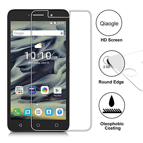 Qiaogle Premium Vidrio Templado Protector de Pantalla para Alcatel Onetouch Pixi 4 6.0 8050D (3G Version,6 Pulgadas) Cristal Templado Screen Protector