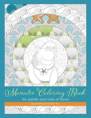 Manatee Coloring Book for adults and kids at heart product image