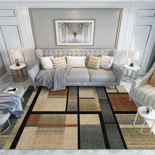 alfombras Grandes para Salon Alfombra marrón, cómoda y Sencilla Alfombra para Gatear,...