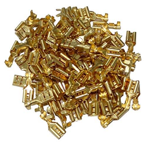 AERZETIX: 100 X Kabelschuh weiblich flach, 4,7 mm 0,5 – 1 mm2 C41298