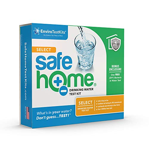 Safe Home® SELECT Drinking Water Test Kit – 15 Different Parameters Tested at Our EPA Certified Laboratory – CITY WATER or WELL WATER – Free Return Shipping – Don't Guess…TEST!