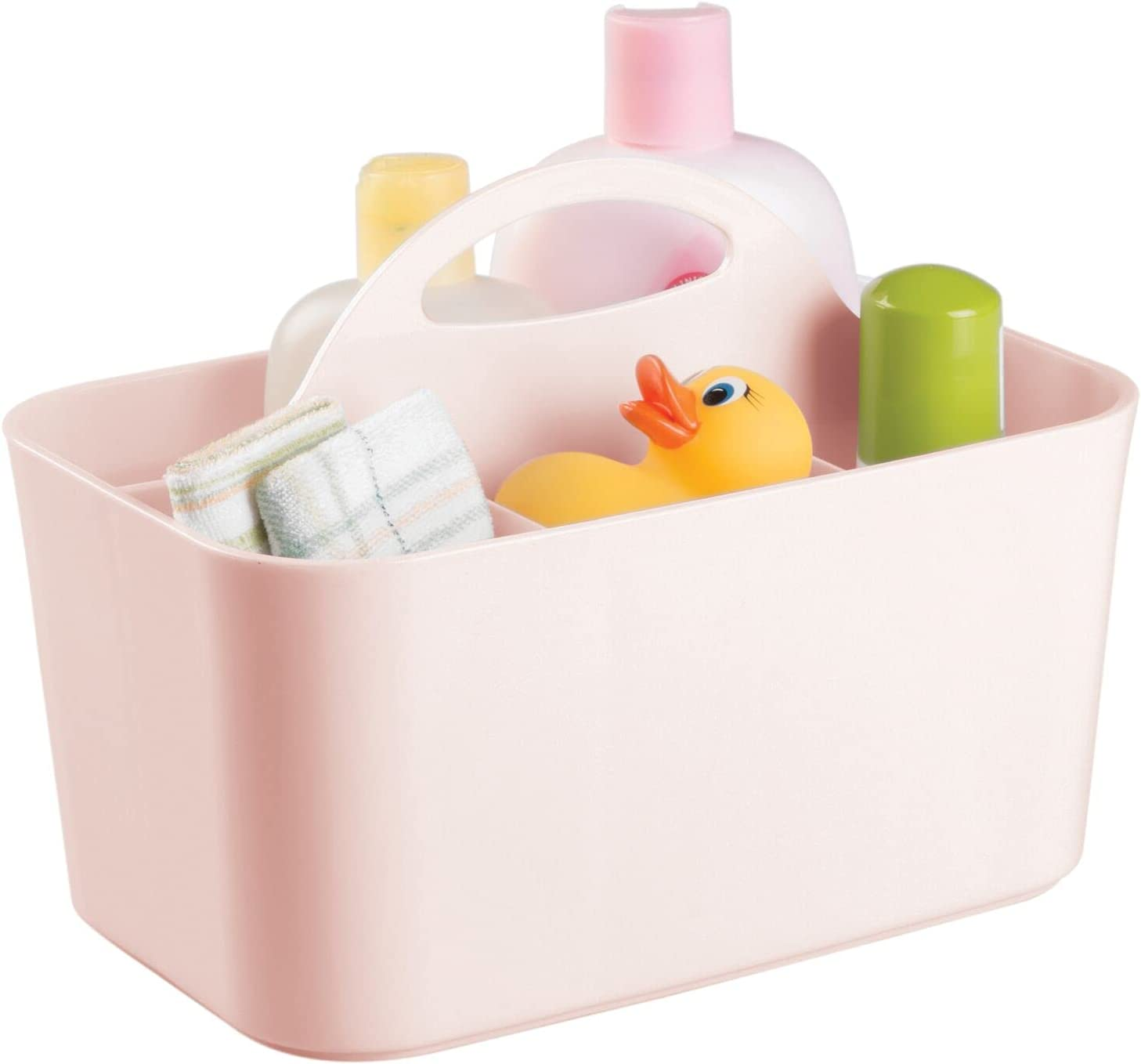 mDesign Plastic Nursery Storage Excellence Caddy with Divided Max 68% OFF Bin Tote Han