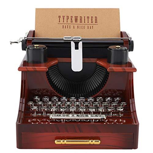 Haofy Caja de música, Cajas Musicales de Madera Mini máquina de Escribir Retro de Estilo Vintage Caja de música mecánica, Caja de música mecánica Mesa de Regalo Decoración de Escritorio para