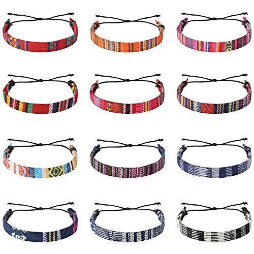 12 Pcs VSCO Boho Bracelets Friendship Braided Wrap Bracelets Stuff Woven Rope...