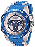 Invicta Men's Star Wars Jango Fett 52mm Stainless Steel and Silicone Chronograph Quartz Watch, Blue (Model: 27966)