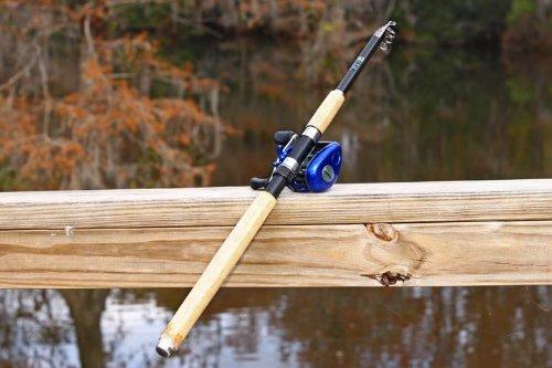 BASS 7ft 5in 2.4M Carbon Telescoping Fishing Rod & Reel Combo by FTUSA -  Gone Fishing USA Inc FTUSA®, Bass 2.4 Meter FTUSA®