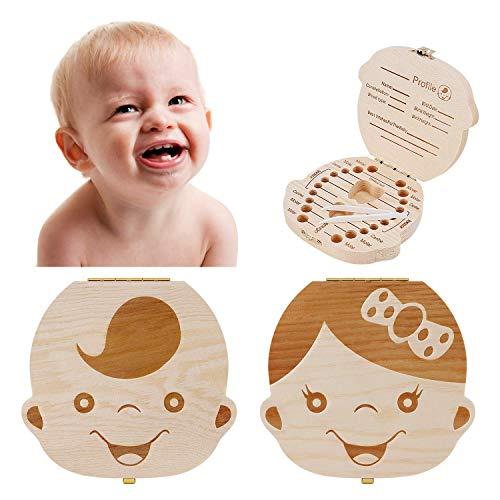 Binky Boîte à dents de lait en bois pour bébé