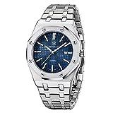 BERSIGAR Mode Herren Quarz Wasserdicht Edelstahl Uhren Business Casual Sport Design Armbanduhr für...