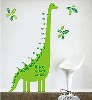 Green Dinosaur Growth Chart for Kids and Nursery Room