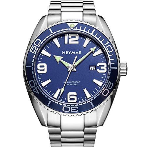 NEYMAR 300m Men Watch Ultra Thin Sport Watch with Japanese Quartz Movement Sapphire Glass 200m Stainless Steel Watch(More on The Way)