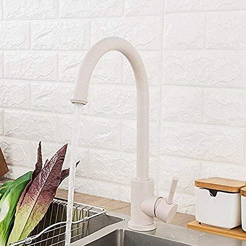 Wasserhahn Edelstahl Küchenarmatur Hot & Cold Water 360 drehen Haferflocken Mixer Wasserhahn