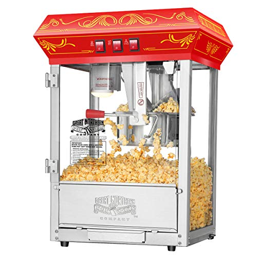 Great Deal! 5805 Great Northern Popcorn Red Good Time Popcorn Popper Machine, 8 Ounce