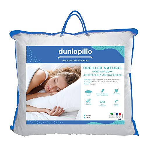 Dunlopillo OR1XAQN060060DPO Kopfkissen, 60 x 60 cm, Weiß