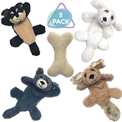 Plush Dog Toys with Squeakers for Small Dogs and Large Dogs - Stuffingless Dog Toys with Squeakers - Plush Crinkle Dog Toys Squeaky- No Stuffing Squeaky Dog Toys- Plush Chew Toys with Crinkle for Dogs