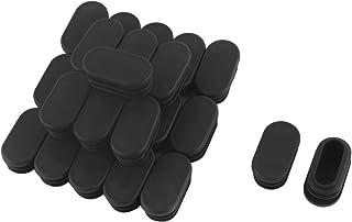 sourcing map 12pz 12mm x 75mm nero plastica mobili incasso lettino tavolo Protezioni angolari