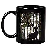 N\A Camo amerikanische Flagge Hirsch Elch Bock Jagd USA Jäger Geschenk Keramik Kaffeetasse, Tasse,