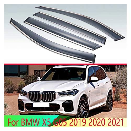 CGDD Windabweiser Für BMW X5 G05 2019 2020 2021 Autozubehör Kunststoff Außenbereich Venor Lüftungsschirme Fenster Sonne Regenschutz Deflektor Autofenster Visier