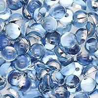 アクリル 半円 半球 マルポコ ラインストーン デコ電 ネイル デコパーツ 5mm ライトブルー