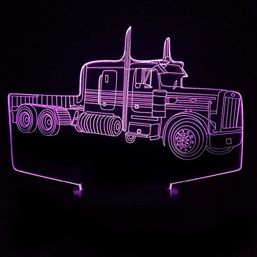 3D Illusion Night Light bluetooth smart Control 7&16M Color Mobile App Led Vision Tractor Air Plane Battery Home Bedroom Decor Kids Gfit colorful Creative gift