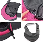 Lovefish Pet Dog Sling Carrier, Small Dog Outdoor Travel Bag Hands Free Front Pack Chest Carrier with Breathable Mesh Pouch for Puppy Cat Small Dog(Pink, 6lb) 10