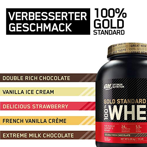 Optimum Nutrition Whey Gold Standard Protein, Double Rich Chocolate, 1er Pack (1 x 2273 g) - 4