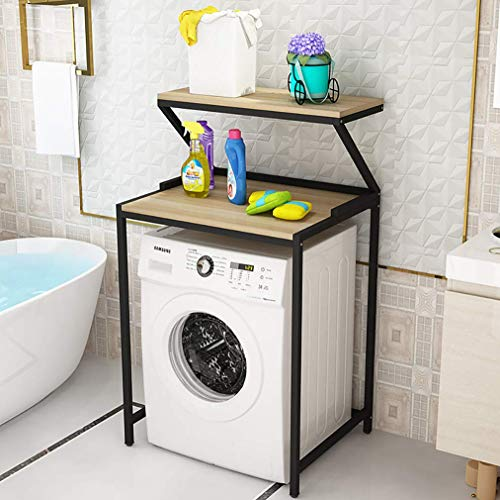 Badkamer Plank Over Wasmachine Opslag met Verstelbare Voet Pad 3 Lagen Boven De Opslag Rek voor Wasmachine Opslag Plank voor Shampoo, Toiletten jhfghbdfgsdfgsdgdfg/Zwart/A / 2