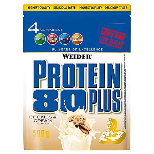 Weider - Protein 80 Plus, 2 * 500g Beutel (1000g) Weider-Partnershop (Cookies Cream) by Weider