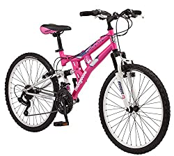 commercial Mongoose Exlipse Kids Mountain Bike Full Suspension, 15inch / Small Steel Frame… mongoose dual suspension mountain bike