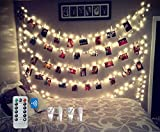 BestCircle 40 LED Photo Clip String Lights 20 Ft, Remote...
