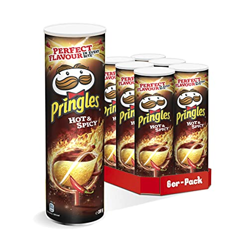 Pringles Hot & Spicy | Scharfe Chips | 6er Party-Pack (6 x 200g)