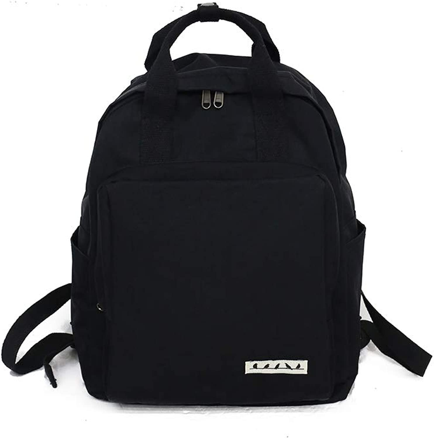 The Girl's Versatile Backpack is Perfect for Everyday Travel, Outdoor, Travel, School, Work, Fashion and Leisure. Five colors, Sleek and Simple. (color   Black, Size   28cm37cm13cm)