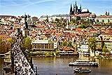 Números De Bricolaje Pintura Al Óleo Pintura En Lienzo Preimpresa Vista De La Ciudad De Praga Pintura Para Principiantes Para Decoración De La Pared Del Hogar, 16X20 Pulgadas