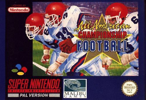 All-American Championship Football / SNES / PAL Version