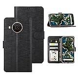 Foluu Nokia X10/Nokia X20 Hülle, Flip/Folio Cover Wallet Magnetverschluss Kartenfächer Bargeld Halter Ständer Kickstand TPU Bumper Stoßfest Schutzhülle für Nokia X10/Nokia X20 2021 (Schwarz)