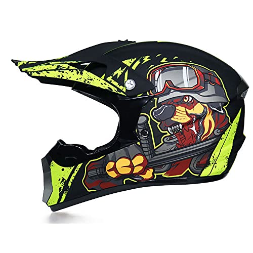 GENGJ Motorcycle Helmet, Adult Children, One-Piece Mountain Bicycle Helmet, ABS Case And Porous Ventilation, Rapid Release Removable Interior Lining,F,XL